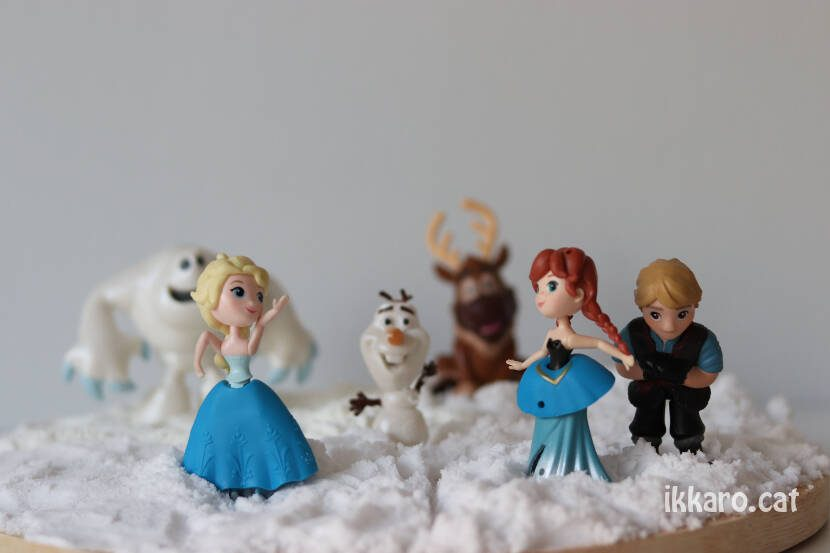 Decoració Frozen en neu artificial